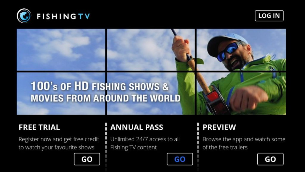 Fishing TV App on Roku Splash Screen