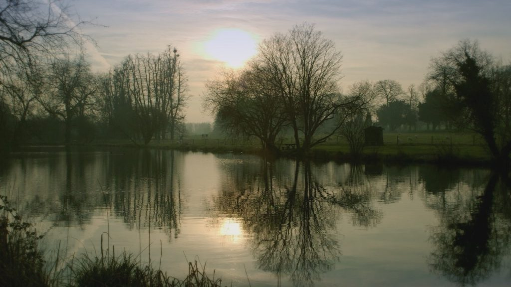 One of Avington's 3 lakes