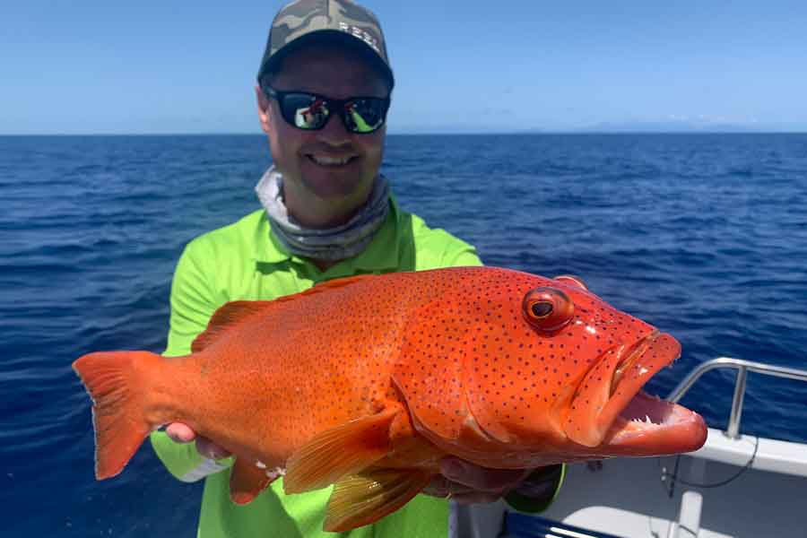 Paul Worsteling with a big Coral Trout