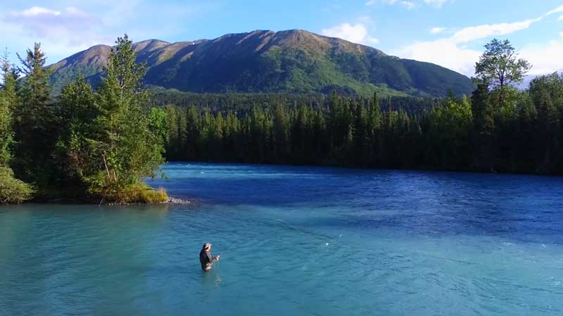Fishing the Kenai River Canyon for Dolly Vardon on Fishing TV
